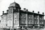 Здание синагоги. Располагалась ну углу ул. Будочной и Семинарской (совр. ул. Жукова) в Новослободском форштадте